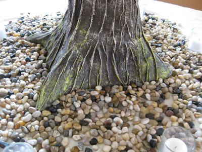 Paper Mache Tree Closeup