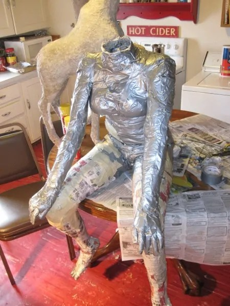Duct Tape Armature for a Figure Sculpture