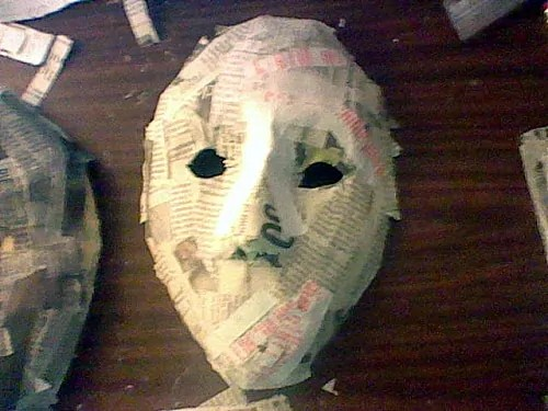 Simple Paper Mache Mask, Step 3