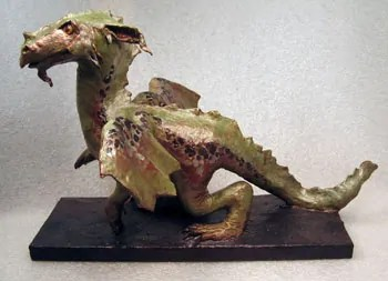 Finished Paper Mache Dragon