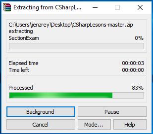 unzippng files