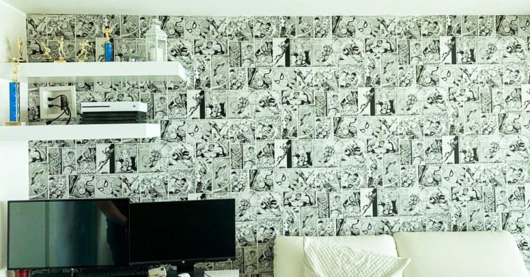 wall covering comics