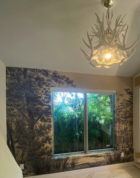 wall covering tree