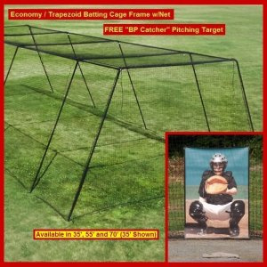 "Backyard Batting Cage Frame w/Net and Free ""BP Catcher"""