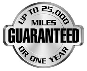 25000 Mile 1 year guarantee on AMSOIL's Premium Signature Series Synthetic Oils