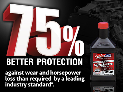 AMSOIL provides 75% Better Protection 75ASL