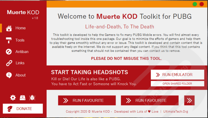 Muerte KOD - All in One Toolkit for PUBG Mobile
