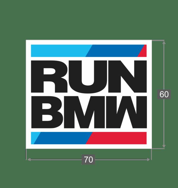 NaklejkaRUN BMW Wymiary