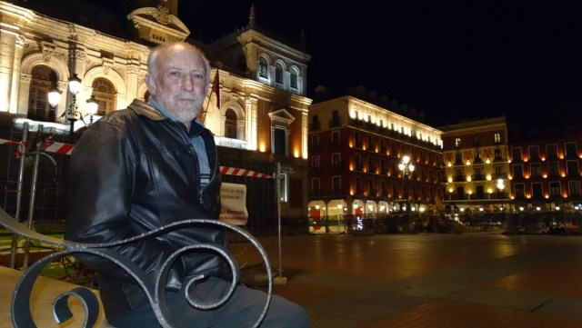 Joan Carrero en la Plaza Mayor de Valladolid. Foto: úC