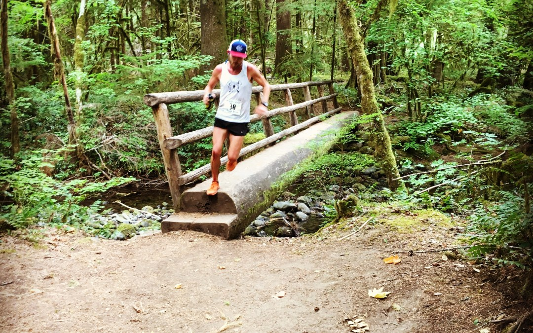 Asher wins the McKenzie River 50k