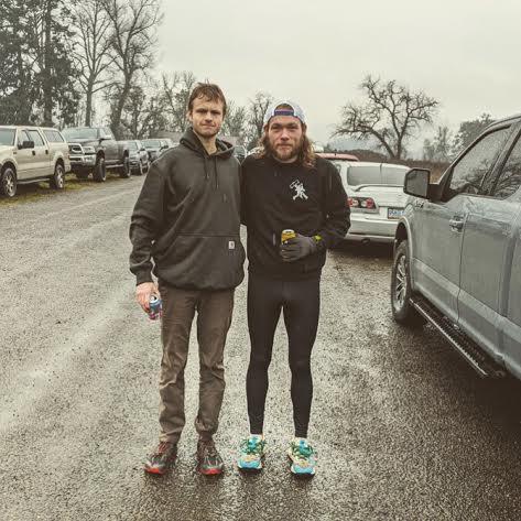Sam & Asher set course records at Eugene Frozen Trail Runfest
