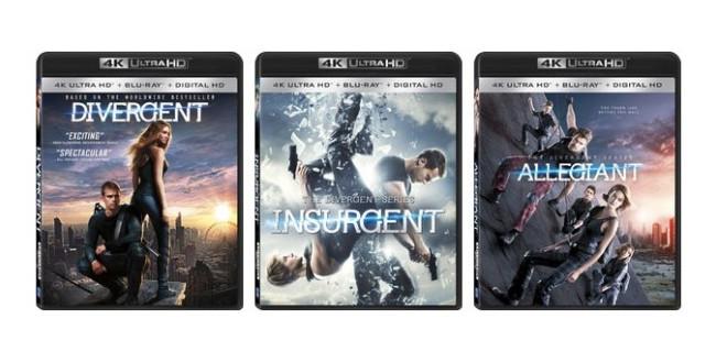 """Ultra HD Blu-rays: Release der drei Filme von """"Die Bestimmung"""""""