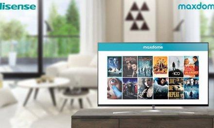 maxdome rutscht ins Startmenü von Hisense-Fernsehern