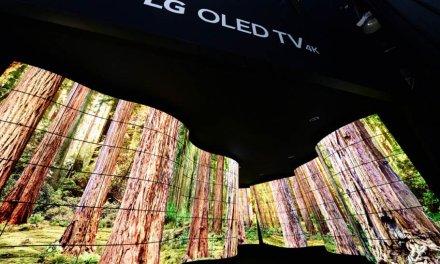 Der OLED-Canyon von LG zieht Besucher der CES Las Vegas magisch an