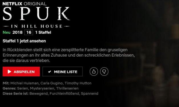 PSA: Spuk in Hill House startet heute bei Netflix