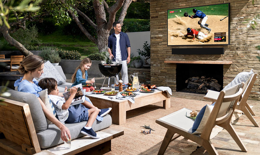 Fernsehen auf der Terrasse? Samsung machts möglich!