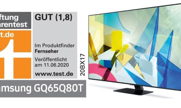 Samsung QLED-Fernseher holten bei Stiftung Warentest gute Noten