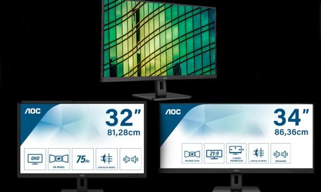 """AOC bringt """"Monitore mit gutem Panel und ohne Schnickschnack"""""""