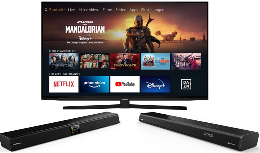 Grundig kommt mit günstigen Soundbars und 4K-Fernsehern
