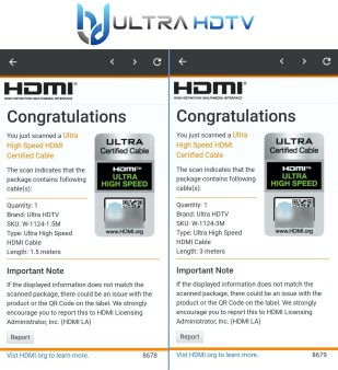 Ultra High Speed HDMI Zertifizierung