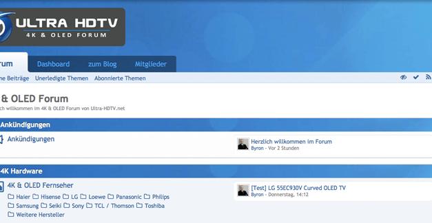 4K-Heimkino, Soundbar-Tipp, Serien Top10, 4K-Filme im Kino: 4K & OLED Forum