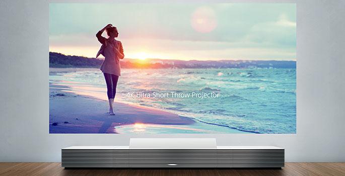Ultra Short Throw – Sony 4K-Projektor für Bodeneinsatz – CES 2014
