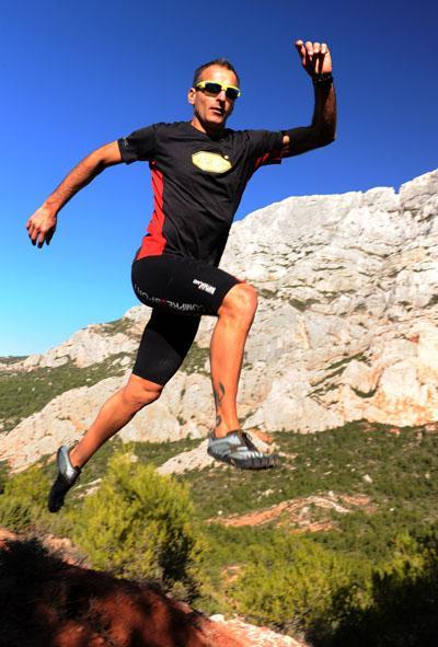 Sebastien Nain enjoying the trails