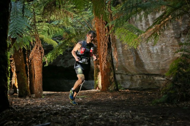 Mark in action recently with the AK running vest
