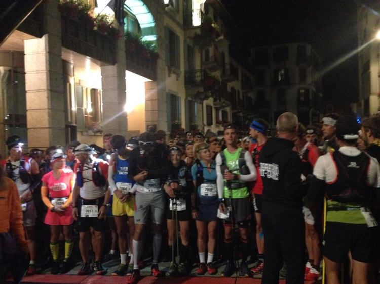 A stacked start line for the 80km ultra