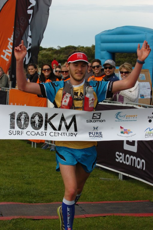 Ben Duffus claimed one of the performances of the year at the Sky Running World Champs - here he is winning the Surf Coast Century last year.