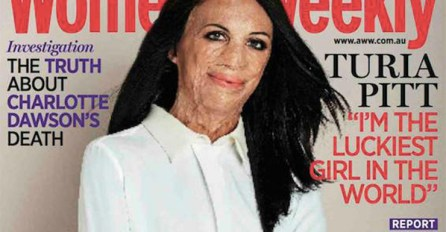 Turia Pitt on the cover of Womans Weekly