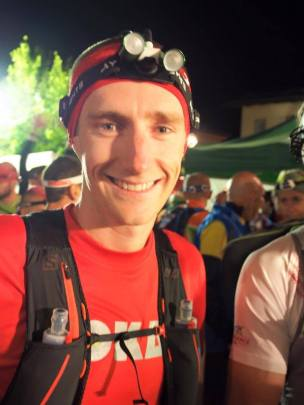 Scotty at the start of the Lavaredo Ultra Trail