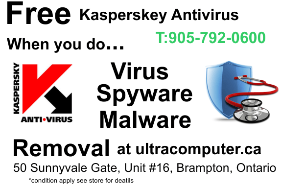 Virus, Spyware and Malware Removal + Free Kaspersky Antivirus