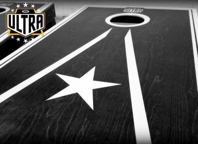 Ultra cornhole pro graphics with logo