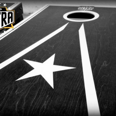 Ultra cornhole pro graphics with logo