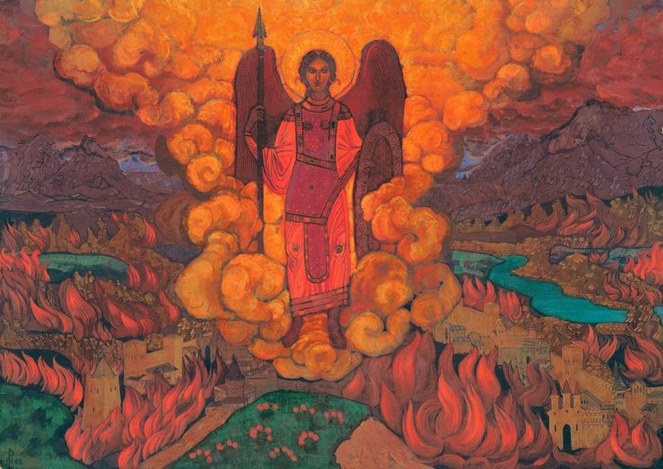 Last Angel by Nicholas Roerich. Image via Wikiart.org.