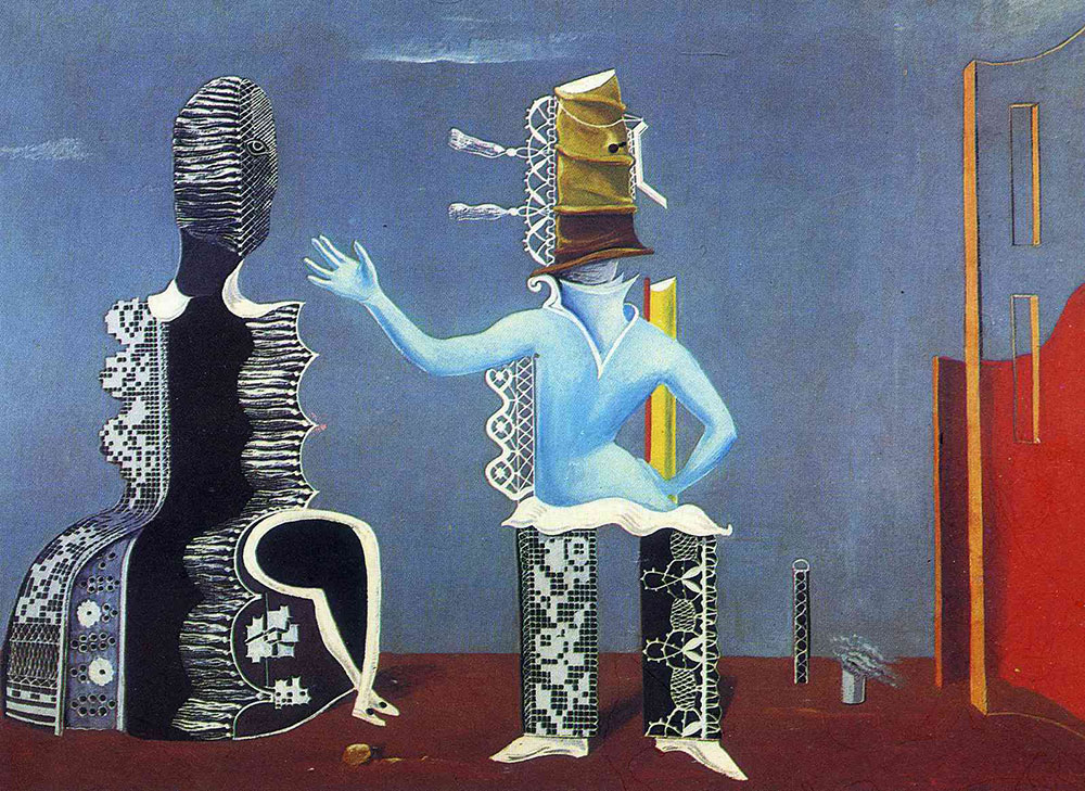 Max Ernst The Couple in Lace