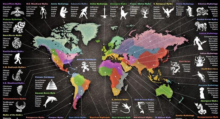 Map of World Mythology