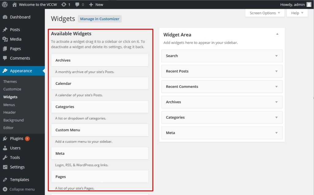 WordPress-Website-Widget-Available-Widgets-Section-ULTRAdvice-min