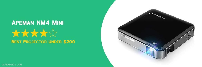 APEMAN NM4 Mini Portable Projector - Best Projector under $200 - ULTRAdvice.com