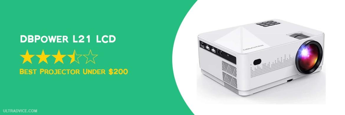 DBPOWER L21 LCD Video Projector - Best Projector under $200 - ULTRAdvice.com