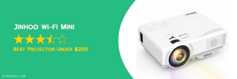 Jinhoo WiFi Mini Projector, 2020 Latest Update - Best Projector under $200 - ULTRAdvice.com