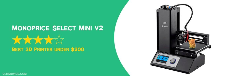Monoprice Select Mini V2 3D Printer - Best 3D Printer under 200 - ULTRAdvice.com