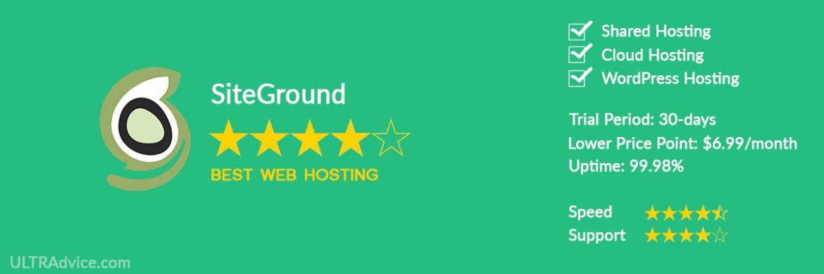 SiteGround - Best Web Hosting for Small Business - ULTRAdvice.com