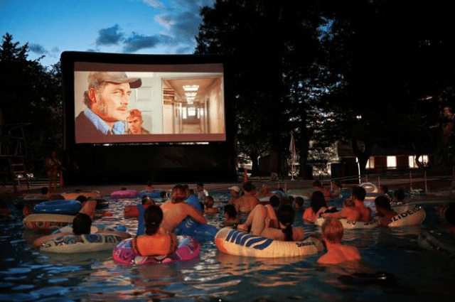 Pool Party with Projector - Cool things to do with a Projector - ULTRAdvice