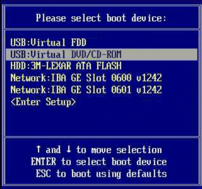 Boot flash drive in Ultraiso-BIOS