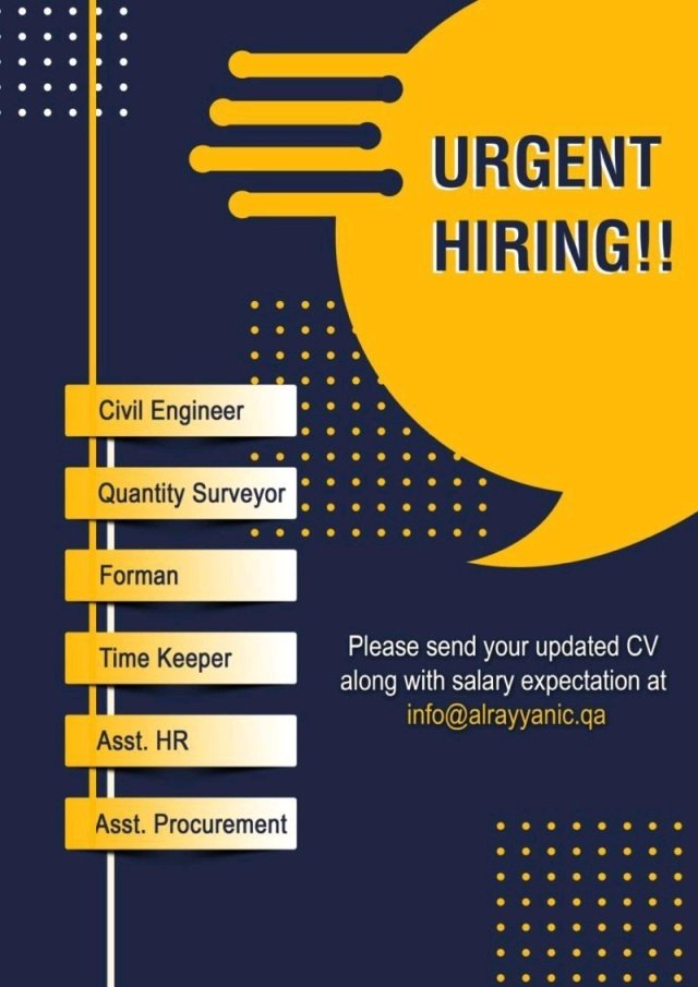 Job Openings For Frehser  BE BTech Civil Engineer