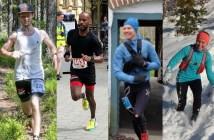 Gustaf, David, Daniel och Gunilla inför GAX 100