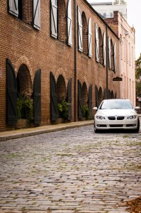 BMW in Charleston, SC cobblestones