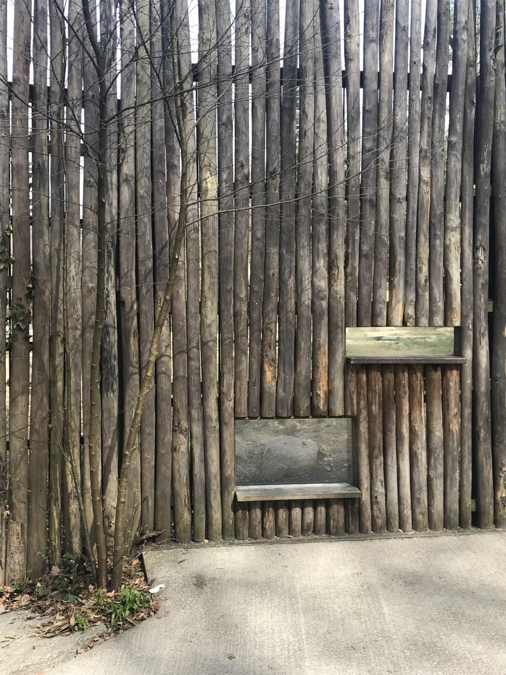 Detalhe da área de observação de animais do Parque Zoológico de Mulhouse